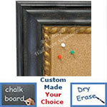 BB1635-1  Distressed Black | Custom Cork Bulletin Board | Custom White Dry Erase Board | Custom Chalk Board