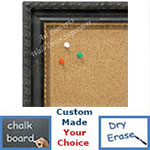 BB1637-1  Distressed Black Scoop Moulding | Custom Cork Bulletin Board | Custom White Dry Erase Board | Custom Chalk Board
