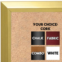 BB1661-1 | Gold | Custom Cork Bulletin Board | Custom White Dry Erase Board | Custom Chalk Board