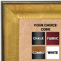 BB1662-1 | Crackle Gold / Black | Custom Cork Bulletin Board | Custom White Dry Erase Board | Custom Chalk Board