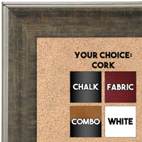 BB1670-1 | Distressed Dark Brown | Custom Cork Bulletin Board | Custom White Dry Erase Board | Custom Chalk Board