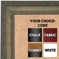 BB1671-1 | Distressed Gray | Custom Cork Bulletin Board | Custom White Dry Erase Board | Custom Chalk Board
