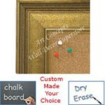 BB1678-1 | Gold / Design | Custom Cork Bulletin Board | Custom White Dry Erase Board | Custom Chalk Board