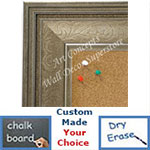 BB1678-2 | Silver / Design | Custom Cork Bulletin Board | Custom White Dry Erase Board | Custom Chalk Board