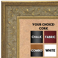 BB1680-1 | Gold | Custom Cork Bulletin Board | Custom White Dry Erase Board | Custom Chalk Board