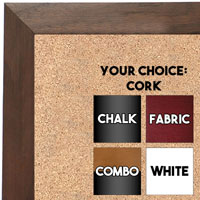 BB1681-2 | Natural Walnut | Custom Cork Bulletin Board | Custom White Dry Erase Board | Custom Chalk Board