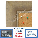 BB1685-1 | Distressed Ivory | Custom Cork Bulletin Board | Custom White Dry Erase Board | Custom Chalk Board