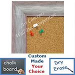 BB1687-3 | Brushed Silver with Red | Custom Cork Bulletin Board | Custom White Dry Erase Board | Custom Chalk Board