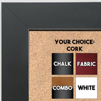 BB1689-1 | Black / Cube Moulding | Custom Cork Bulletin Board | Custom White Dry Erase Board | Custom Chalk Board