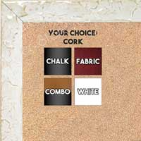 BB1691-3 | Glossy White / Design | Custom Cork Bulletin Board | Custom White Dry Erase Board | Custom Chalk Board
