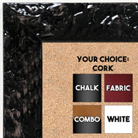 BB1692-1 | Glossy Black / Design | Custom Cork Bulletin Board | Custom White Dry Erase Board | Custom Chalk Board