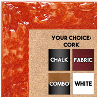 BB1692-4 | Glossy Orange / Design | Custom Cork Bulletin Board | Custom White Dry Erase Board | Custom Chalk Board