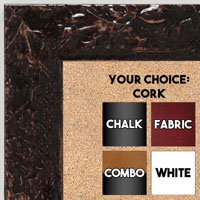 BB1692-5 | Glossy Chocolate / Design | Custom Cork Bulletin Board | Custom White Dry Erase Board | Custom Chalk Board