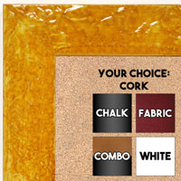 BB1692-6 | Glossy Mustard / Design | Custom Cork Bulletin Board | Custom White Dry Erase Board | Custom Chalk Board