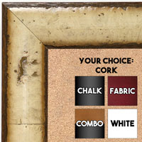 BB1693-1 | Tan Burl Moulding | Custom Cork Bulletin Board | Custom White Dry Erase Board | Custom Chalk Board