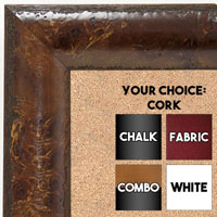 BB1693-3 | Dark Maple Burl Moulding | Custom Cork Bulletin Board | Custom White Dry Erase Board | Custom Chalk Board