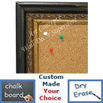 BB1696-1 | Distressed Black / Gold | Custom Cork Bulletin Board | Custom White Dry Erase Board | Custom Chalk Board