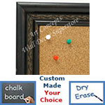 BB1696-2 | Distressed Black | Custom Cork Bulletin Board | Custom White Dry Erase Board | Custom Chalk Board