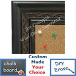 BB1697-2 | Distressed Black | Custom Cork Bulletin Board | Custom White Dry Erase Board | Custom Chalk Board