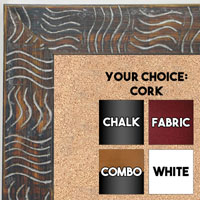 BB1702-1 | Silver / Design | Custom Cork Bulletin Board | Custom White Dry Erase Board | Custom Chalk Board