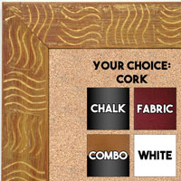 BB1702-4 | Gold / Design | Custom Cork Bulletin Board | Custom White Dry Erase Board | Custom Chalk Board