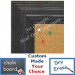 BB1704-1 | Distressed Black | Custom Cork Bulletin Board | Custom White Dry Erase Board | Custom Chalk Board