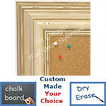 BB1704-2 | Distressed White | Custom Cork Bulletin Board | Custom White Dry Erase Board | Custom Chalk Board