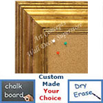 BB1704-3 | Distressed Gold | Custom Cork Bulletin Board | Custom White Dry Erase Board | Custom Chalk Board