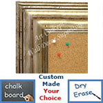BB1704-4 | Distressed Silver | Custom Cork Bulletin Board | Custom White Dry Erase Board | Custom Chalk Board