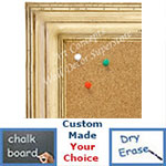 BB1705-2 | Distressed White | Custom Cork Bulletin Board | Custom White Dry Erase Board | Custom Chalk Board