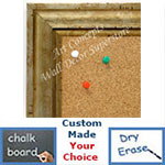 BB1706-4 | Distressed Silver Scoop Moulding | Custom Cork Bulletin Board | Custom White Dry Erase Board | Custom Chalk Board