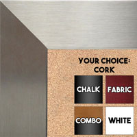 BB1708-4 | Stainless Steel Look - Mica Finish - Moulding | Custom Cork Bulletin Board | Custom White Dry Erase Board | Custom Chalk Board