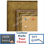 BB1719-3 | Distressed Gold | Custom Cork Bulletin Board | Custom White Dry Erase Board | Custom Chalk Board
