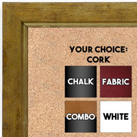 BB1720-4 | Distressed Gold | Custom Cork Bulletin Board | Custom White Dry Erase Board | Custom Chalk Board