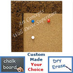 BB1728-2 | Distressed - Bronze Stone Look - Moulding | Custom Cork Bulletin Board | Custom White Dry Erase Board | Custom Chalk Board
