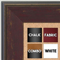 BB1734-3 | Distressed Brick Red | Custom Cork Bulletin Board | Custom White Dry Erase Board | Custom Chalk Board
