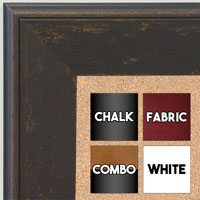 BB1734-5 | Distressed Saddle Brown | Custom Cork Bulletin Board | Custom White Dry Erase Board | Custom Chalk Board