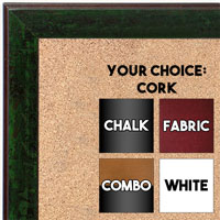 BB1735-2 | Distressed Evergreen | Custom Cork Bulletin Board | Custom White Dry Erase Board | Custom Chalk Board