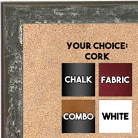 BB1735-6 | Distressed Gray | Custom Cork Bulletin Board | Custom White Dry Erase Board | Custom Chalk Board