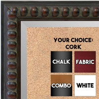 BB1747-4 | Distressed - Brown Beads | Custom Cork Bulletin Board | Custom White Dry Erase Board | Custom Chalk Board
