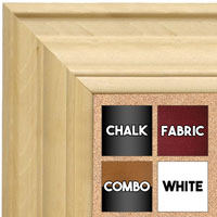 BB1749-1 | Unfinished Wood Frame | Unfinished Natural Wood Moulding - Paint or Stain | Custom Cork Board | Custom Chalk Board | Custom White Dry Erase Board