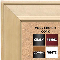 BB1751-1 | Unfinished Wood Frame | Unfinished Natural Wood Moulding - Paint or Stain | Custom Cork Board | Custom Chalk Board | Custom White Dry Erase Board