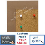 BB1764-3 | Frosted Brushed Copper / Aluminum Frame | Custom Cork Bulletin Board | Custom White Dry Erase Board | Custom Chalk Board