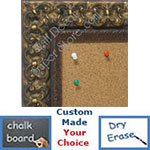 BB1769-1 | Gold Leaf / Ornate | Custom Cork Bulletin Board | Custom White Dry Erase Board | Custom Chalk Board