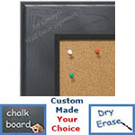 BB1776-3 | Black | Custom Cork Bulletin Board | Custom White Dry Erase Board | Custom Chalk Board