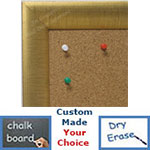 BB1778-1 | Distressed Gold Leaf - Crescent Moulding | Custom Cork Bulletin Board | Custom White Dry Erase Board | Custom Chalk Board