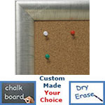 BB1778-2 | Distressed Silver Leaf - Crescent Moulding | Custom Cork Bulletin Board | Custom White Dry Erase Board | Custom Chalk Board