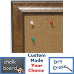 BB1783-1 | Distressed Light Olive | Custom Cork Bulletin Board | Custom White Dry Erase Board | Custom Chalk Board