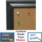 BB1783-3 | Distressed Dark Olive | Custom Cork Bulletin Board | Custom White Dry Erase Board | Custom Chalk Board