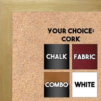 BB1543-4 Natural Clear- 3/4 Inch Wide X 3/4 Inch High - Small Custom Cork Chalk Dry Erase